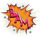 Bam - Comic Expression Vector Text — Stock Vector