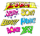 Comic Expression Vector Text Set — Stock Vector