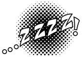 Zzz Comic Expression — Stock Vector