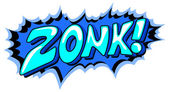 Zonk - Comic Expression Vector Text — Stock Vector