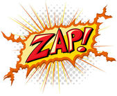 Zap - Comic Expression Vector Text — Stock Vector