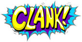 Clank - Comic Expression Vector Text — Vector de stock