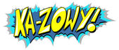 Ka Zow - Comic Expression Vector Text — 图库矢量图片