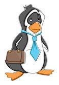Office Cartoon Penguin Vector Illustration — Stock Vector