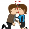 Kissing Together — Imagen vectorial
