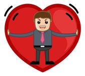 Stuck in a Heart Vector — Stock Vector