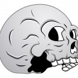 Skull - Side View Illustration — Stock Vector