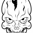 Stock Vector: Retro Skull Tattoo Vector