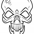 Skull Tattoo Vector — Stock Vector