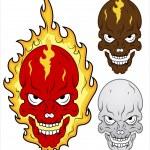 Skull in Flames Vector Illustration — Stock Vector #27811349