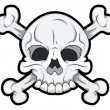 Stock Vector: Skull with Crossbones