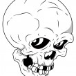 Royalty Free Vector - Skull — Stockvectorbeeld