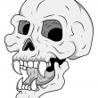 Royalty Free Vector - Head Skull — Stock Vector