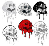 Melting Skulls Vector Illustration — Stock Vector