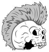 Skull Tattoo Illustration — Stock Vector