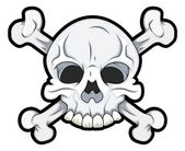 Skull with Crossbones — Stock Vector
