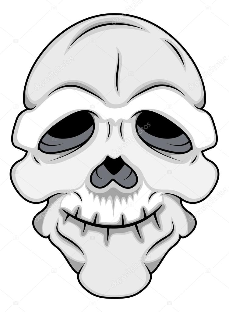 Vector maschera teschio divertente — vettoriali stock