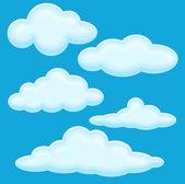 Cloud Vector Illustration Set — Stock Vector
