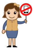No Mobile Phone Allowed - Vector Illustration — Stock Vector