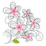 Vintage Flower Design — Stock Vector