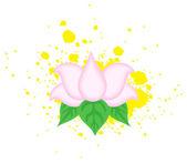 Lotus Flower on Splash Vector — Stock Vector