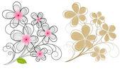 Vintage Flowers Designs — Stock Vector