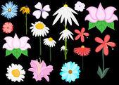 Vector flores vintage de estilo scrapbook — Vector de stock