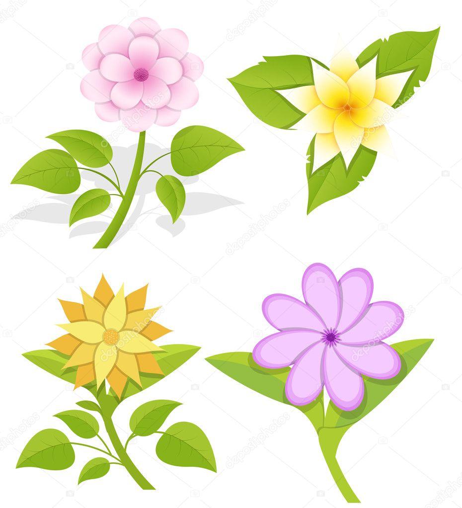 Vectores flores ornamentales archivo im genes for Diseno de plantas ornamentales
