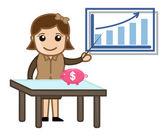 Crescere il risparmio - illustrazione vettoriale — Vettoriale Stock