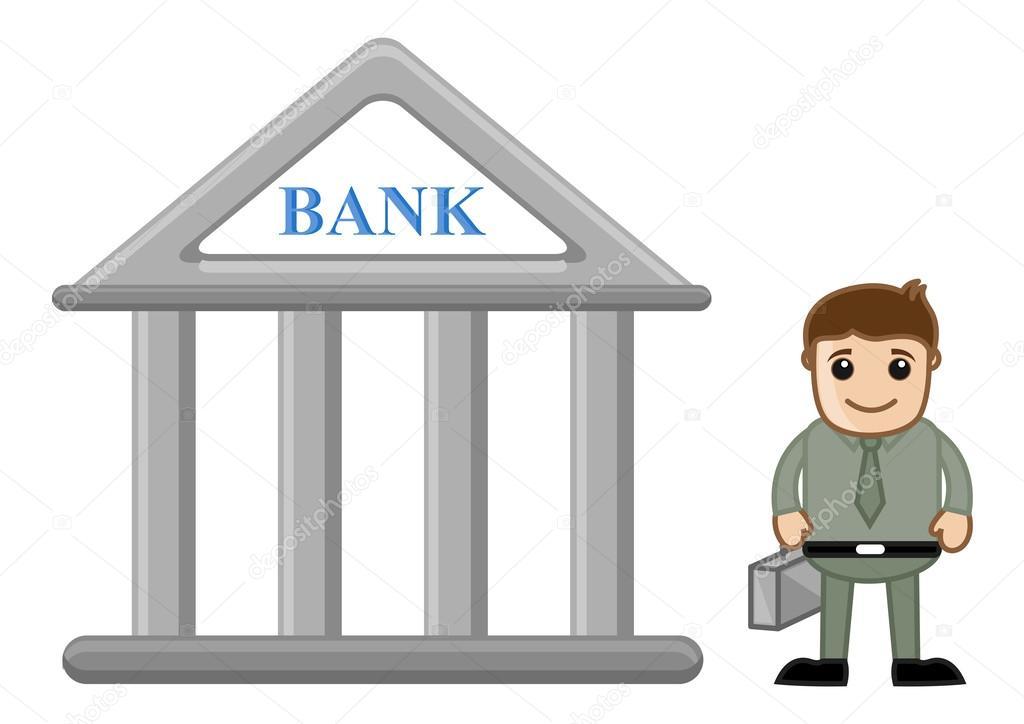 Bancos Dibujos Animados Dibujos Animados Banquero