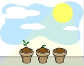 plants and sun light stock illustration 28670873. Black Bedroom Furniture Sets. Home Design Ideas
