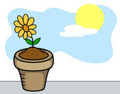Flower Plant Vector — Stock Vector