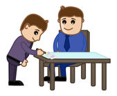 Agreement Signed - Cartoon Office Vector Illustration — 图库矢量图片