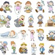 Set of Various Cartoon Kids Illustrations — Stock Vector #28818175