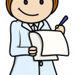 Nurse - Vector Cartoon Illustration — Stock Vector