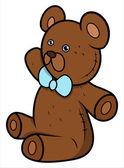 Teddy Bear - Cartoon Vector Illustration — Stock Vector