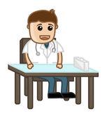 Medical Campaign - Cartoon Doctor — Stock Vector