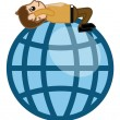 Stock Vector: Mon Globe - Cartoon Business Character