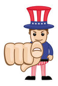 We Want You - Uncle Sam - Business Cartoon Characters — Stok Vektör