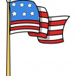 USA Flag Cartoon - Vector Illustration — Stock Vector