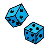 Cartoon Dice - Vector Illustration — Stock Vector