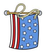 USA Flag - Vector Illustration — Stock Vector