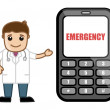 Call on Emergency - Doctor & Medical Character Concept — Stock Vector