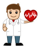 Cardiologists - Doctor & Medical Character Concept — Stock Vector