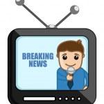 Breaking News - Business Cartoons Vectors — Stock Vector