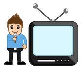 TV Anchor - Profession Concept - Business Cartoons Vectors — Stock Vector