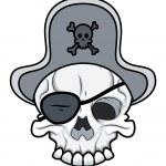 Pirate Skull - Vector Cartoon Illustration — Stock Vector #29800197