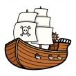 Pirate Ship Vector — Stock Vector