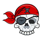 Crâne de tatouage de pirate — Vecteur