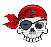 Pirate tatoeage schedel — Stockvector